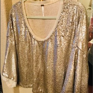 Free people sequined blouse